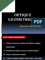 Présentation cour optique géométrique