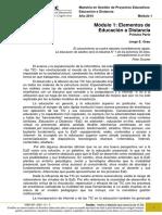 INTRODUCCIÓN A LA EDUCACIÓN A DISTANCIA - 1ra parte - 2015
