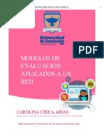 Informe de aplicación de 3 modelos de evaluación a un RED