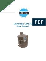 9-5897-02 TEK 733 Ultrasonic GSM 3G Tekelek User Manual