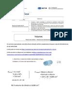 Ficha de volumes- Tomás segunda feira