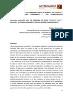 """JACQUES RANCIÈRE Y EL PROBLEMA ACERCA DE CUÁNDO """"HAY POLÍTICA"""". LA IGUALDAD COMO FUNDAMENTO Y SUS CONSECUENCIAS (DES)POLITIZANTES"""