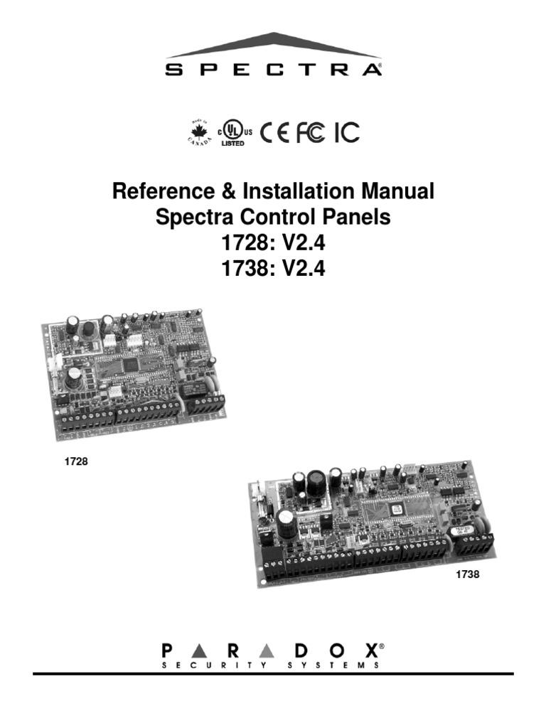 paradox spectra ion 1728 1738 manual power supply telephone rh es scribd com Operators Manual Instruction Manual Clip Art