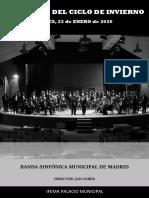 Programa de mano - BSMM (23-ene-20)