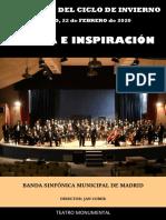 Programa de mano - BSMM (22-feb-20)