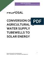 PROPOSAL Solar Tubewell