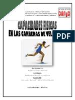 CAPACIDADES FISICAS EN LAS CARRERAS DE VELOCIDAD