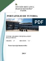PORTAFOLIO DE TUTORIA 2019