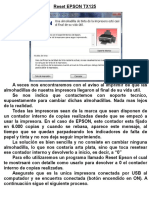 Reseteo de contador EPSPON TX125