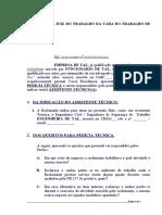 QUESITOS - PERÍCIA DE INSALUBRIDADE EM OFICINA MECÂNICA