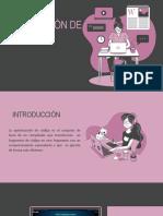 OPTIMIZACIÓN DE CODIGO