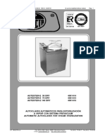 Selecta Autester E 30, 75, 140 Autoclave - Service and user manual