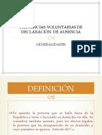 DIAPOSTIVAS DECLARATORIA DE AUSENCIA