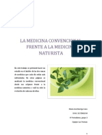 La Medicina Convencional Frente a La Medicina Naturista Con Portada
