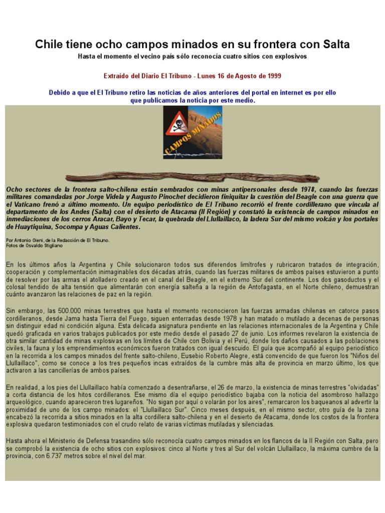Noticias Campos Minados2 Mina Terrestre Chile