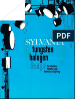 Sylvania Tungsten Halogen Lamps -Studio Theater & Television Brochure
