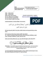 DC AQIDAH Beriman kepada Qadha dan Qadar