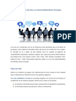Los roles, tipos de roles y su funcionalidad dentro del  grupo_Claudia