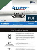 Manual garantía moto discover 125 st