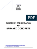 EFNARC European Specification for Sprayed Concrete Euro Concrete Spec Eng
