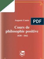 Auguste Comte Cours de Phi Lo Sophie Positive