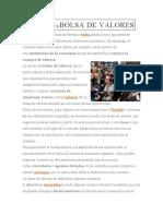 DEFINICIÓN DEBOLSA DE VALORES