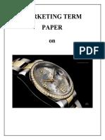 Paper on Luxury Branding