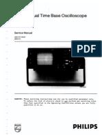 PM3055 Phillips 60Mhz Oscilloscope