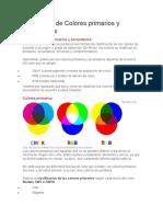 Significado de Colores primarios y secundarios