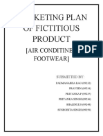 Marketing Plan for Fictitious Product-Air Conditioned Footwear