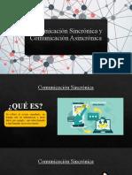 Comunicación Sincrónica y Comunicación Asincrónica