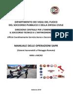 SAPR Manuale Operativo 2018 VVF