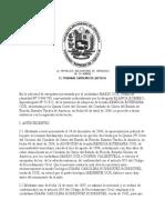 En la solicitud de exequátur presentada por el ciudadano MARIO COX