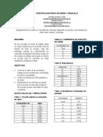 CIRCUTIO ELECTRICO EN SERIE Y PARALELO