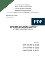 """TRANSFORMACIONES DEL PROCESO POLÍTICO BOLIVIANO Y EL SURGIMIENTO DE NUEVOS ACTORES SOCIALES Y POLÍTICOS"""""""
