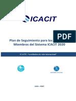 Plan de Seguimiento Programas Miembro del Sistema ICACIT 2020