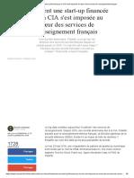Comment une start-up financée par la CIA s'est imposée au cœur des services de renseignement français