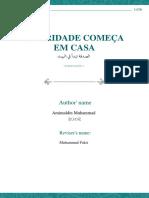 A CARIDADE COMEÇA EM CASA