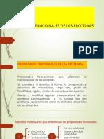 PROPIEDADES  FUNCIONALES DE LAS PROTEINAS