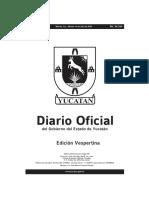 Decreto de Ley Seca en Yucatán