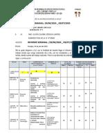 Ficha de Informe Semanal Semana 13 5ª e Deysi