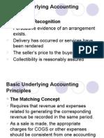 Basic Underlying Accounting Principles