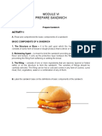 MODULE 6. PREPARE SANDWICH