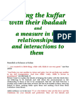 Interactions - Helping the kuffar with their ibadah