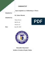 forensic linguistics assignment no.5 pdf