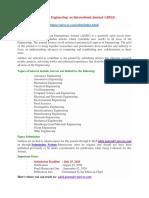 Advances in Engineering an International Journal ADEIJ