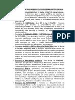 CONCEITO DE PRINCÍPIOS ADMINISTRATIVOS TRABALHADOS EM SALA