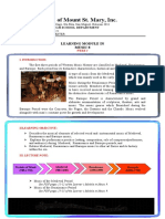 First Quarter Music 9 Learners Module For Online Class