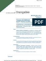 NF DTU 25.1 P1-1