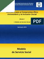 3. Modulo 1. MODELO DE SERVICIO SOCIAL Seminario 2016